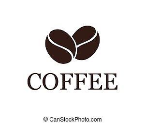 logotipo, caffè, sagoma
