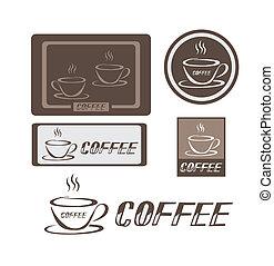 logotipo, caffè