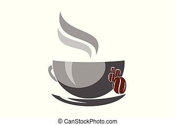 logotipo, caffè, vettore, disegno, icona