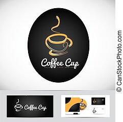 logotipo, caldo, disegno, tazza caffè