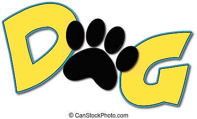 logotipo, cane
