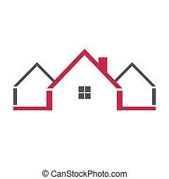 logotipo, casa, lar, ícone
