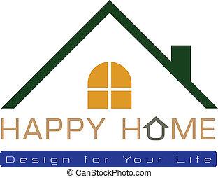 logotipo, casa