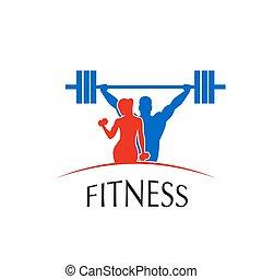 logotipo, centro, condición física