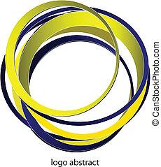 logotipo, cerchio, -, astratto