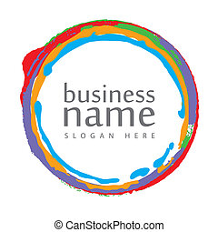 logotipo, cerchio, colorito