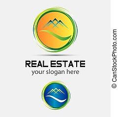 logotipo, cerchio, tetto