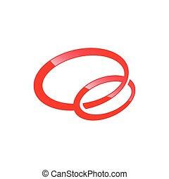 logotipo, cerchio, vettore, forma