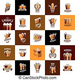 logotipo, cerveza, vector