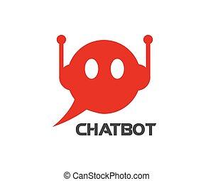 logotipo, chatbot, vector