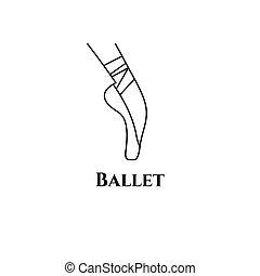 logotipo, classe balletto