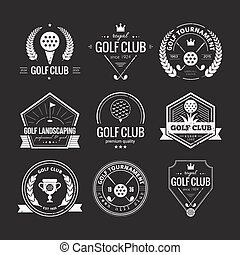 logotipo, club, golf