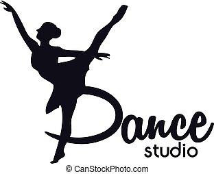 logotipo, clube dança