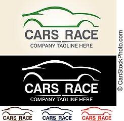 logotipo, coche, 8