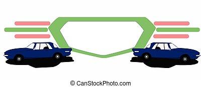 logotipo, coche