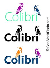 logotipo, colibrì