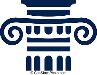 logotipo, collum, señal