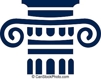 logotipo, collum, sinal