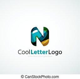 logotipo, compañía, carta