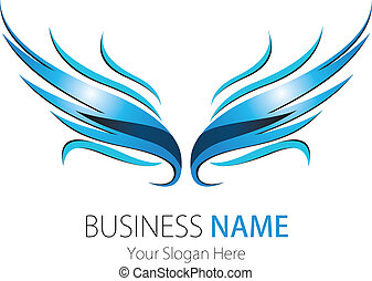 logotipo, compañía, diseño, alas