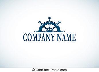 logotipo, compañía, plantilla