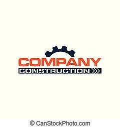 logotipo, companhia, construção