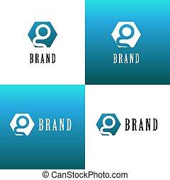 logotipo, companhia, g, letra