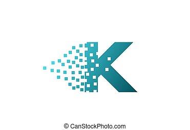 logotipo, companhia, gasto, pixel, incorporado, letra ...