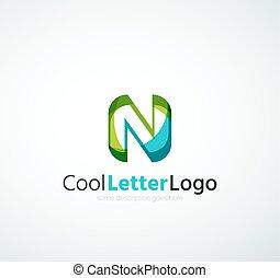 logotipo, companhia, letra