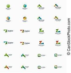 logotipo, companhia, modernos, jogo