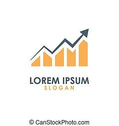logotipo, companhia, vetorial, financeiro