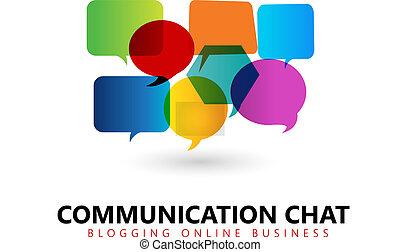 logotipo, comunicazione, simbolo
