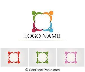 logotipo, comunidade, pessoas
