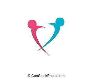logotipo, comunità, cura