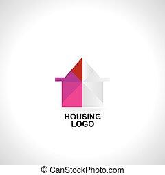 logotipo, conceito, ícone, casa