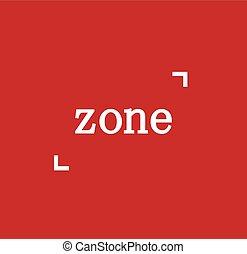 logotipo, conceito, zona