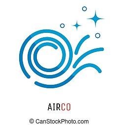 logotipo, concept., condizionamento, aria