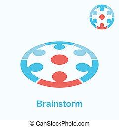 logotipo, concepto, idea genial