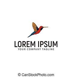 logotipo, concetto, disegno, sagoma, colibrì