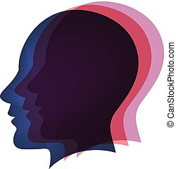 logotipo, concetto, menti
