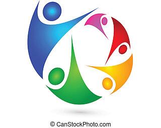 logotipo, condottiero, squadra affari