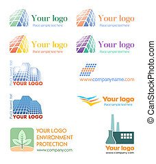 logotipo, conjunto