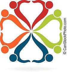 logotipo, coppia, squadre
