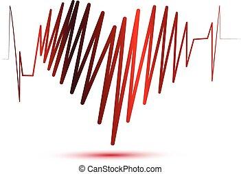 logotipo, coração, de, amor