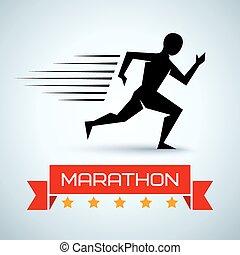 logotipo, correndo, sport