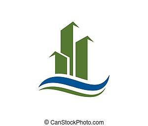 logotipo, costruzione, proprietà