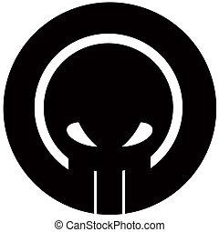 logotipo, cranio