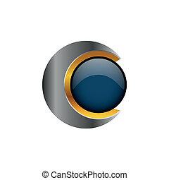 logotipo, creativo, 3d