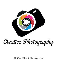 logotipo, creativo, plantilla, fotógrafo