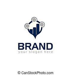 logotipo, crescimento, financeiro, apartamento